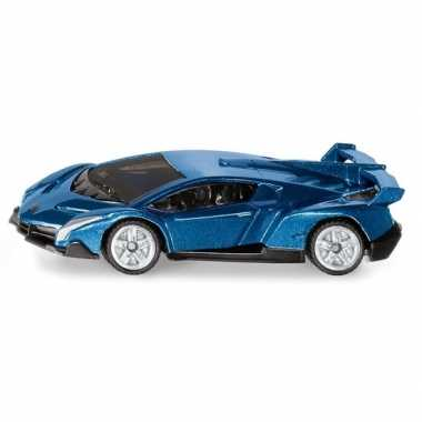 Metallic blauwe siku lamborghini veneno modelauto