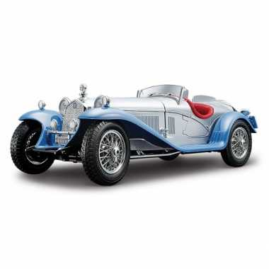 Modelauto alfa romeo 8c 2300 spider zilver 1:18