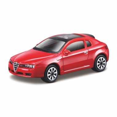 Modelauto alfa romeo brera rood schaal 1:43/10 cm