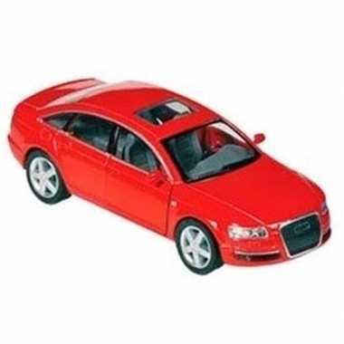 Modelauto audi a6 rood 1:38