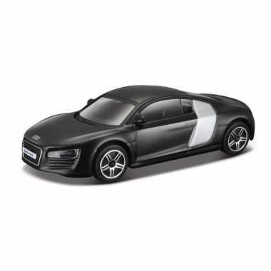 Modelauto audi r8 2009 zwart schaal 1:43/10 x 4 x 3 cm