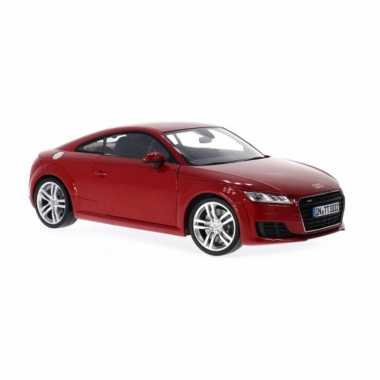 Modelauto audi tt coupe 2014 rood schaal 1:24/17 x 7 x 5 cm