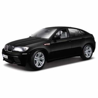 Modelauto bmw x6 m zwart metallic 1:18