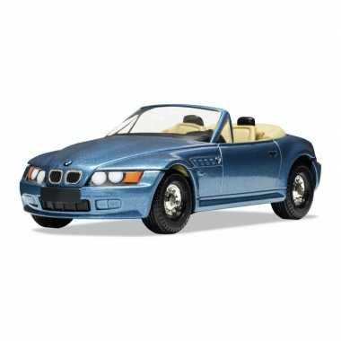 Modelauto bmw z3 james bond schaal 1:36 blauw 11 x 5 x 3 cm