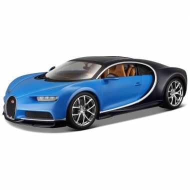 Modelauto bugatti chiron 1 24 blauw