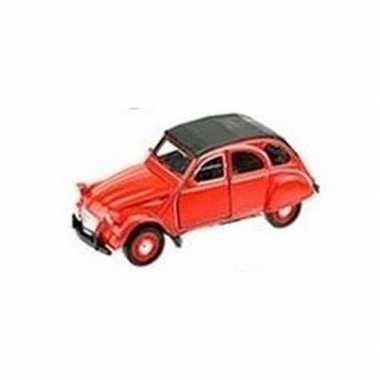 Modelauto citro n 2cv rood1 36