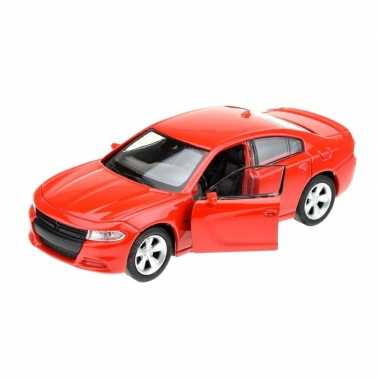 Modelauto dodge charger 2016 rood 1:34