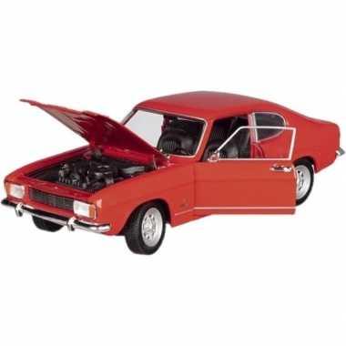 Modelauto ford capri 1969 rood 17 5 cm