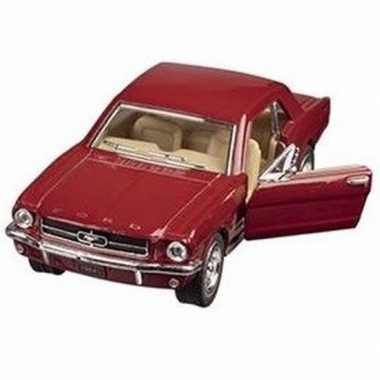 Modelauto ford mustang 1964 rood 13 cm