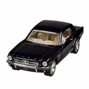 Modelauto ford mustang 1964 zwart 13 cm