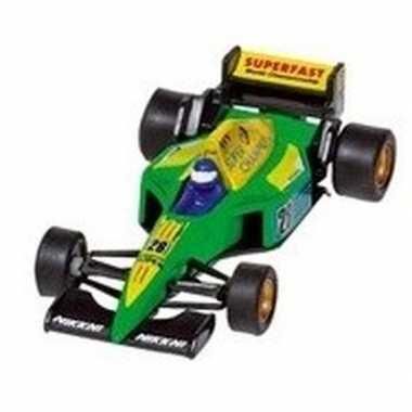 Modelauto formule 1 wagen groen 10 cm