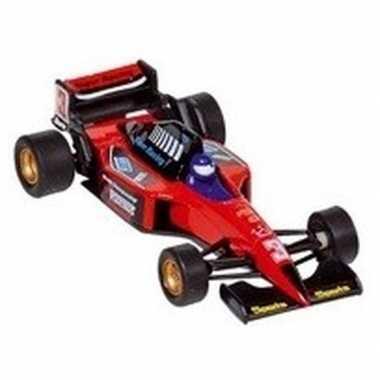 Modelauto formule 1 wagen rood 10 cm