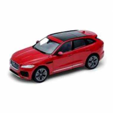 Modelauto jaguar f-pace 2016 rood schaal 1:24/20 x 8 x 7 cm