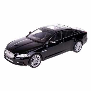 Modelauto jaguar xj 2010 zwart schaal 1:24/21 x 8 x 6 cm
