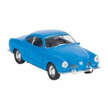 Modelauto karmann-ghia coupe blauw 11 cm