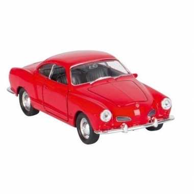 Modelauto karmann-ghia coupe rood 11 cm
