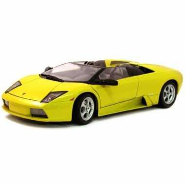 Modelauto lamborghini murcielago roadster goudgeel 1:18