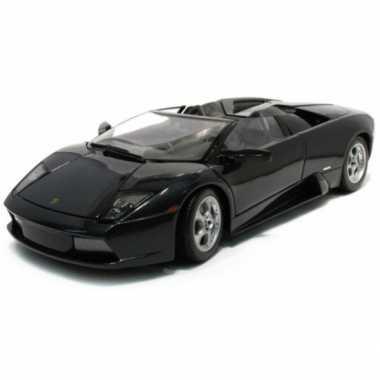 Modelauto lamborghini murcielago roadster zwart 1:18