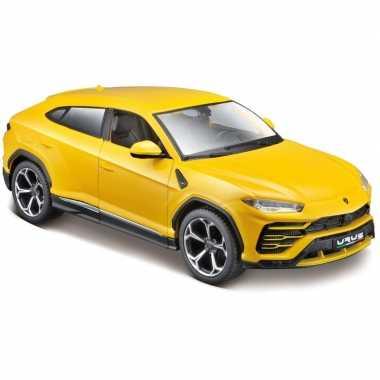Modelauto lamborghini urus geel 1:24