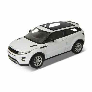 Modelauto land rover range rover evoque wit schaal 1:24/18 x 8 x 6 cm