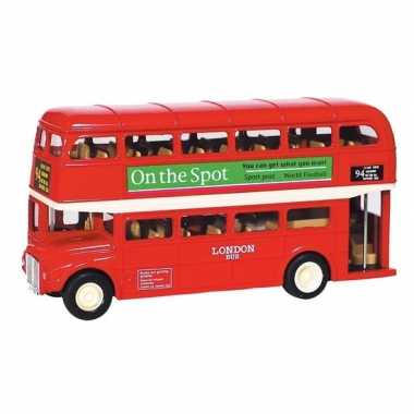 Modelauto london bus rood 12 cm