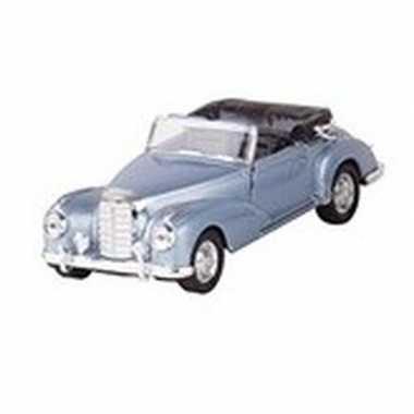 Modelauto mercedes benz 300s cabrio blauw 11 6 cm