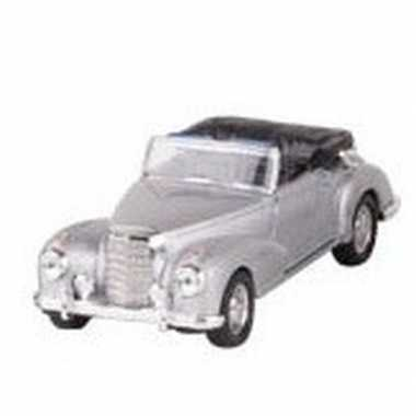 Modelauto mercedes-benz 300s cabrio zilver 11,6 cm