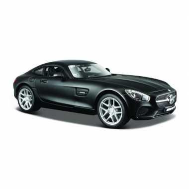 Modelauto mercedes-benz amg gt zwart schaal 1:24/18 x 8 x 5 cm