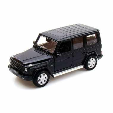 Modelauto mercedes-benz g-klasse zwart schaal 1:24/19 x 7 x 8 cm