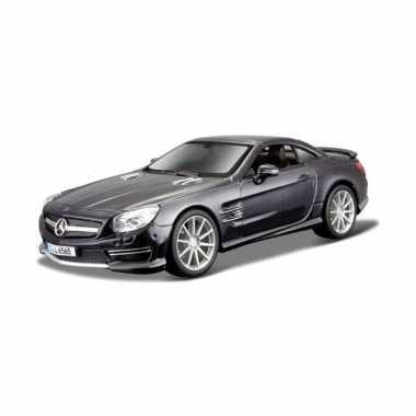 Modelauto mercedes-benz sl65 amg zwart schaal 1:24/19 x 8 x 5 cm