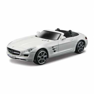 Modelauto mercedes-benz sls amg wit schaal 1:43/11 x 4 x 3 cm