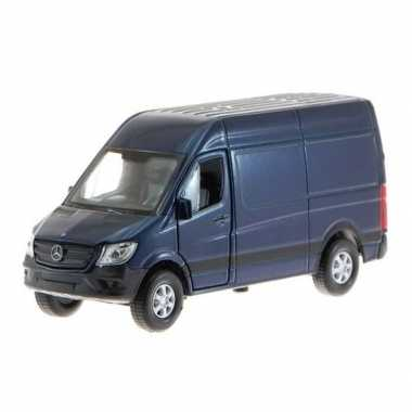 Modelauto mercedes benz sprinter blauw 1:34