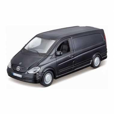 Modelauto mercedes-benz vito zwart schaal 1:32/16 x 6 x 6 cm