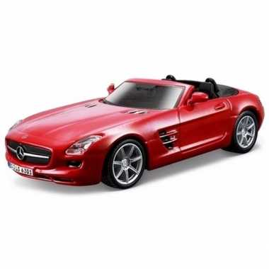 Speelgoed zilveren mercedes sls auto 16 cm | Modelauto kopen.nl