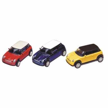 Modelauto mini cooper 7 cm