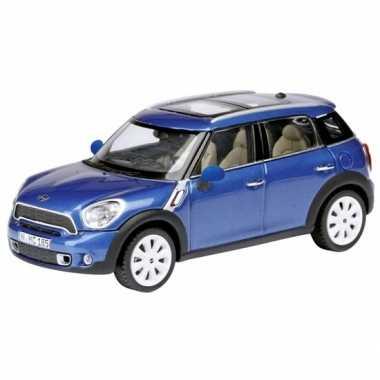 Modelauto mini countryman blauw 1:24