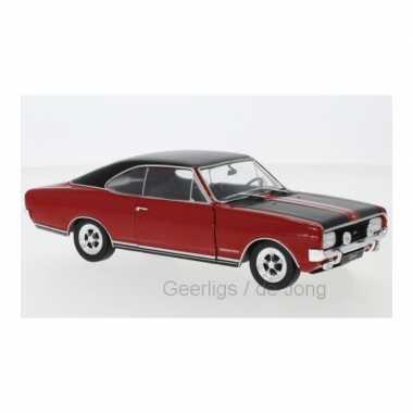 Modelauto opel commodore a gs/e 1970 rood schaal 1:24/19 x 7 x 6 cm