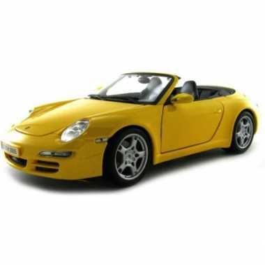 Modelauto porsche 911 carrera s cabrio 1:18