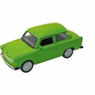 Modelauto trabant 601 groen 11 cm