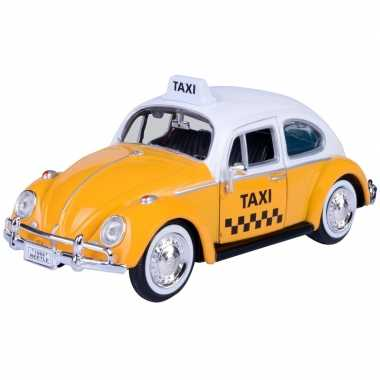 Modelauto volkswagen kever taxi 1:24