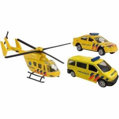 Speelgoed 112 ambulance set 3 delig