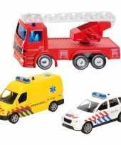 112 diensten wagens uitgebreide speelgoed set 3 delig die cast
